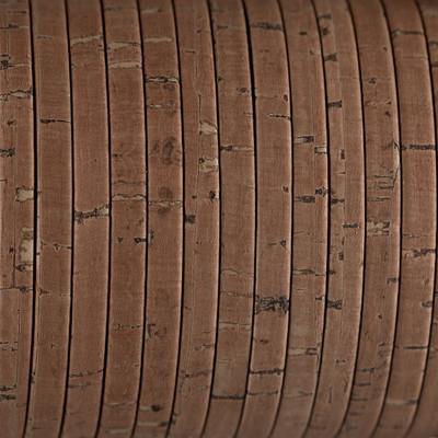 Flachriemen aus Kork, 100cm, ca. 5x2mm, KORK BRAUN