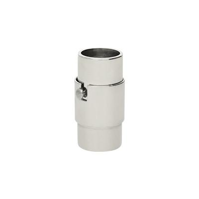 Magnetverschluss, 7mm, 18x9,5mm, Edelstahl, platinfarben