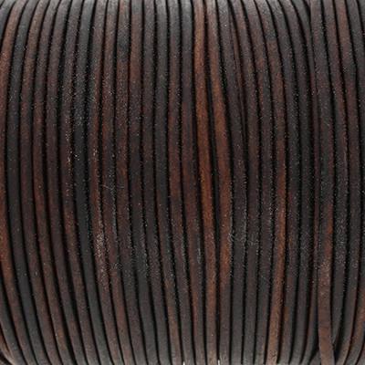 Rundriemen, Lederschnur, 100cm, 2mm, VINTAGE CHOCOLATE TORTE