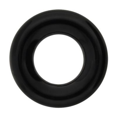 Zierring, innen 5mm, Ø8mm, schwarz, Achat