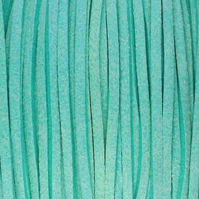 Textilband in Wildlederoptik (100cm), 3,0mm breit - MINTGRÜN