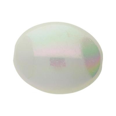 Perle, innen 2mm, 23x13mm oval, Metallic Perlmutt, Acryl