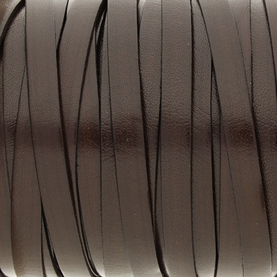 Flachriemen, Rindsleder, ca. 10,0 x 1,5 mm, DUNKELBRAUN