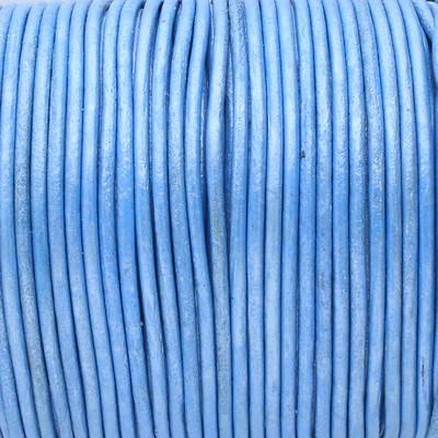 Rundriemen, Lederschnur, 100cm, 1,5mm, METALLIC BLAU