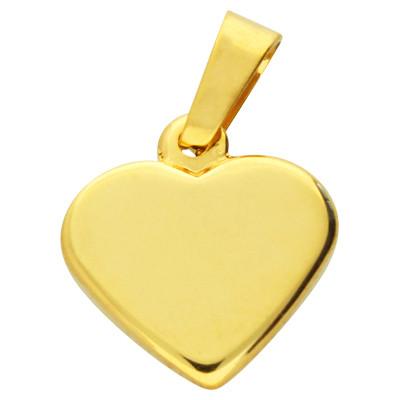 Anhänger, Herz, 23x22x4mm, goldfarben, Edelstahl