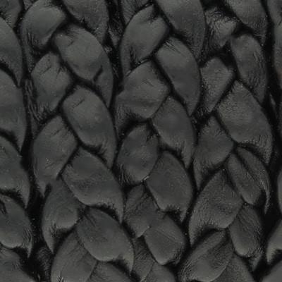 Nappaleder flach geflochten, 10x3,5mm, SCHWARZ