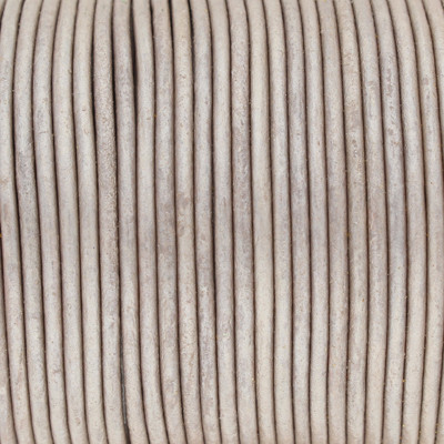 Rundriemen, Lederschnur, 100cm, 2mm, TAUPE