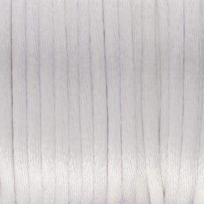 Satinband, Satinkordel, rund (100cm), 2,0mm breit, WEISS-PASTELL-LILA