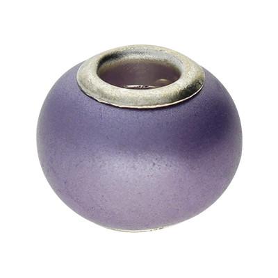Großlochperle, innen 4,5mm, 13x10mm, lila, Violett
