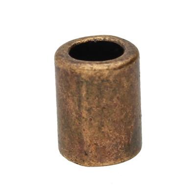 Großlochperle, innen 4mm, 8x4mm, kupferfarben, Metall