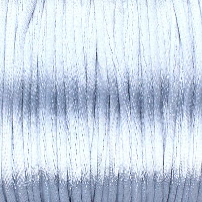 Satinband, Satinkordel, rund (100cm), 2,0mm breit, GRAU