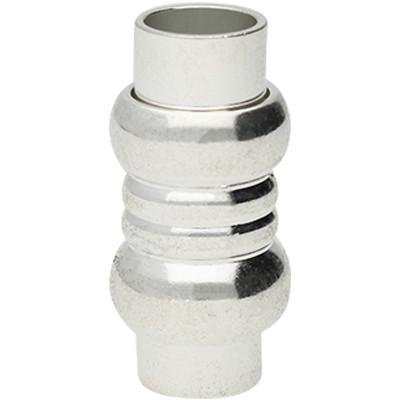 Magnetverschluss, 6mm, 21x10mm, Metall, silberfarben