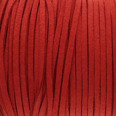 Textilband in Wildlederoptik 3,00mm - FEUERROT