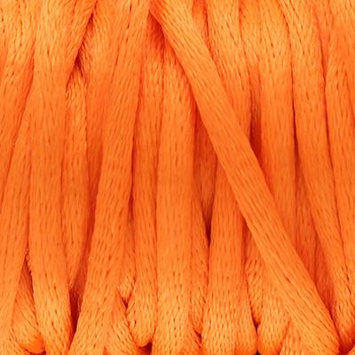 Satinband, Satinkordel, rund (100cm), 2,0mm breit, neon orange