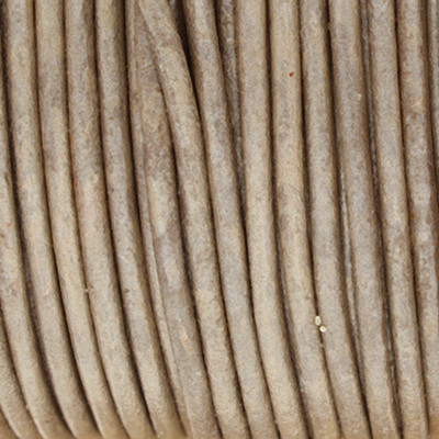 Rundriemen, Lederschnur, 100cm, 2mm, METALLIC TAUPE dunkel