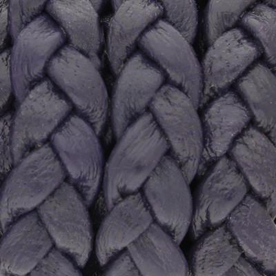 Nappaleder flach geflochten, 10x3,5mm, HEIDELBEERE