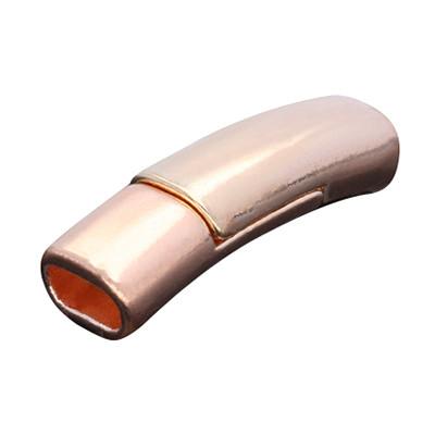 Magnetverschluss, 5x3mm, 26x7x6mm, Metall, roségold