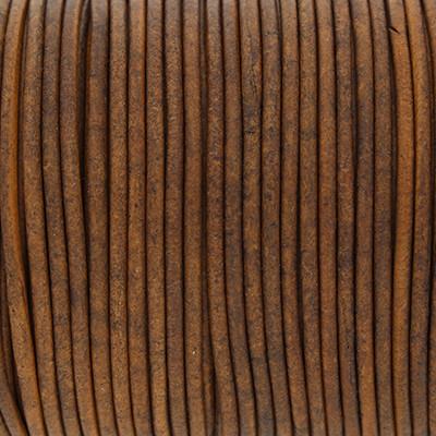 Rundriemen, Lederschnur, 100cm, 2mm, VINTAGE TAUPE dunkel