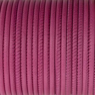 Nappaleder rund gesäumt, 100cm, 4mm, HIMBEERE