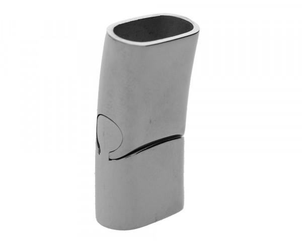 Magnetverschluss, 6x12mm, 29x14x8mm, Edelstahl, silberfarben