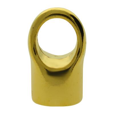 Endkappe, 8mm, 12x19mm, goldfarben, Metall