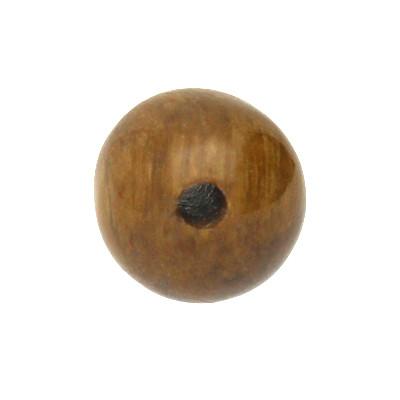 Perle, innen 1mm, Ø 6mm, Tigerauge (Halbedelstein), dunkelbraun