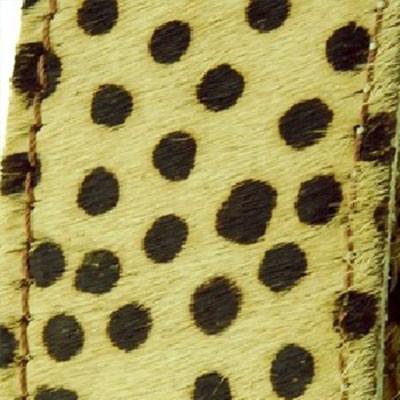 Flachriemen, Kuhfell, 40,0 x 4,0mm, glatte Rückseite, Gepard, Schwarz-Braun