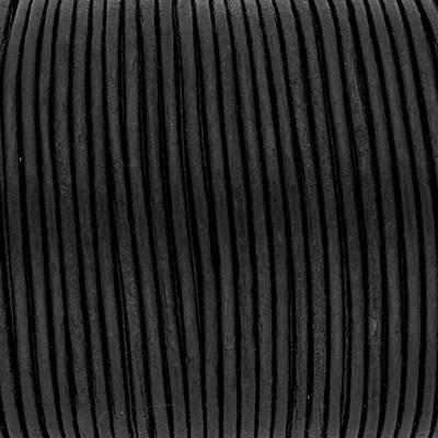Rundriemen, Lederschnur, 100cm, 2mm, METALIC MOONLESS NIGHT
