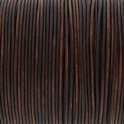 Rundriemen, Lederschnur, 100cm, 1mm, VINTAGE CHOCOLATE TORTE