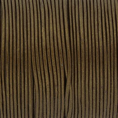 Rundriemen, Lederschnur, 100cm, 1mm, METALLIC BRONZEBRAUN