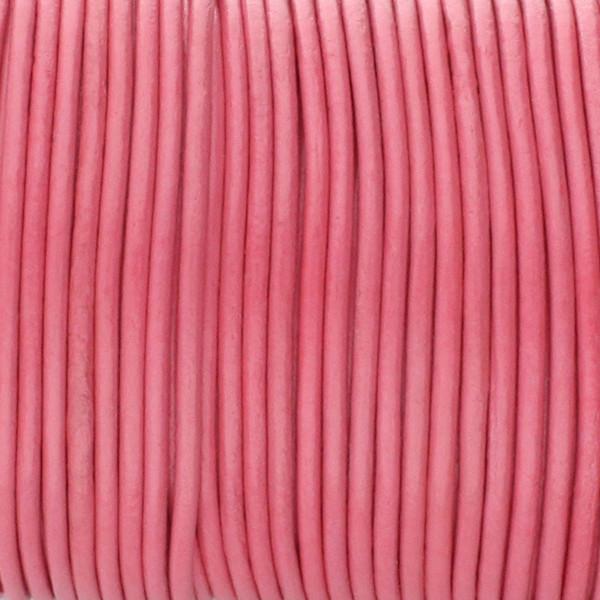 Rundriemen, Lederschnur, 100cm, 2,5mm, FUCHSIA