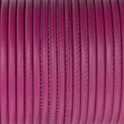 Premium Nappaleder rund gesäumt, 100cm, 4mm, FUCHSIA