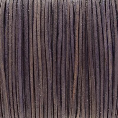 Rundriemen, Lederschnur, 100cm, 1mm, PURPLE SAGE VINTAGE