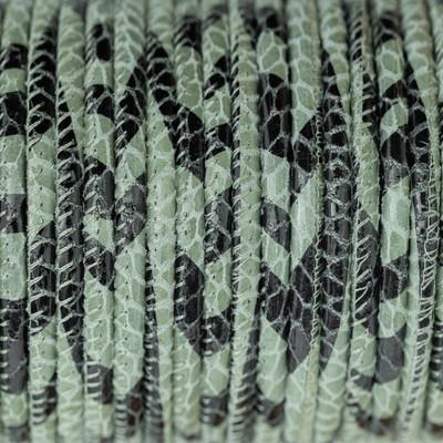 Nappaleder rund gesäumt, 100cm, 4mm, PYTHON Prägung