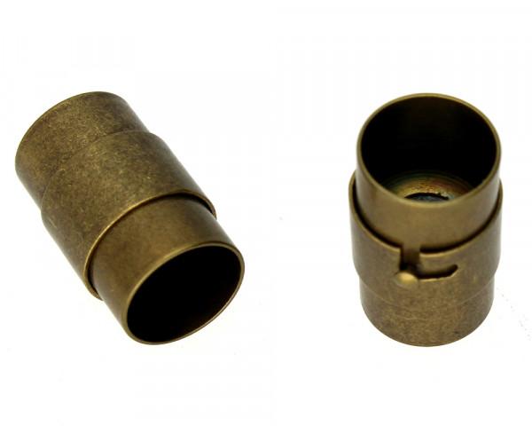 Magnetverschluss, 10mm, 19 x12 mm, bronzefarben