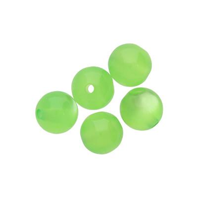 Perle (5 Stück), innen 2mm, 10mm, HELLGRÜN, Acryl