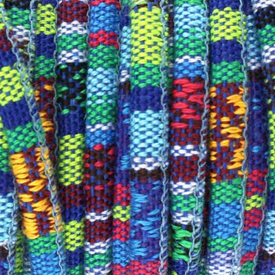 Ethnoband aus Baumwolle, 100cm, Ø 4mm breit, BLAU MIX