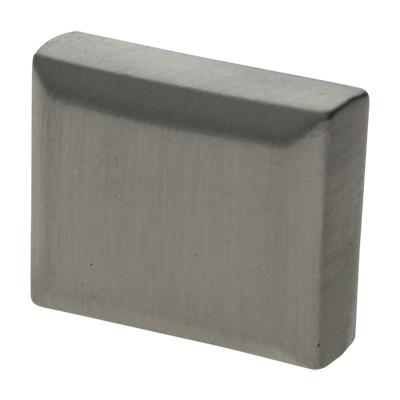 Zierkappe, Endkappe, 14x17mm, innen 5x14m, ZAMAK, silberfarben matt