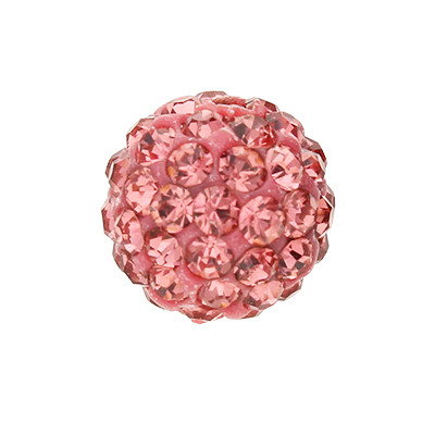 Strassperle, innen 1,5mm, Ø 10mm, vintage roséfarben, Harz