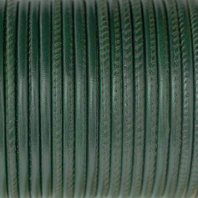 Nappaleder rund gesäumt, 100cm, 4mm, GRÜN