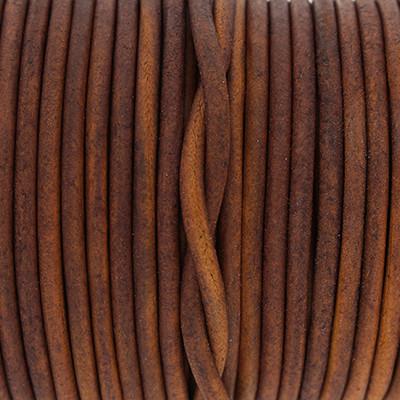 Rundriemen, Lederschnur, 100cm, 3mm, VINTAGE GINGER BREAD