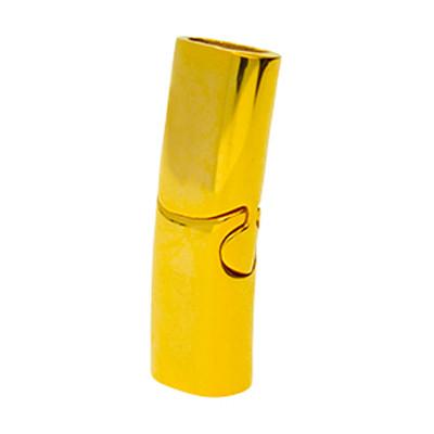 Magnetverschluss, 28x9x6.5mm, innen 7x4mm, goldfarben, Edelstahl