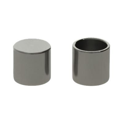 Endkappe ohne Öse (2 Stück), 5x5mm, innen-Ø 4,0mm, Edelstahl, stahlfarben