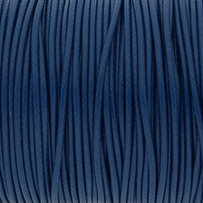 Gewachstes Schmuckband aus Baumwolle, 100cm, 1,5mm breit, BLAU