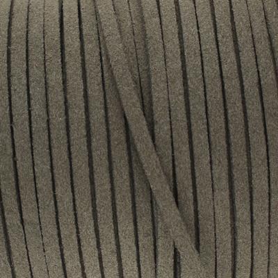 Textilband in Wildlederoptik (100cm), 3,0mm breit - BRAUNGRAU