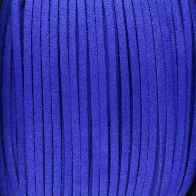 Textilband in Wildlederoptik 2,5mm - KOBALTBLAU METALLIC