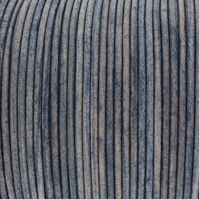 Rundriemen, Lederschnur, 100cm, 2mm, STORMY WEATHER VINTAGE