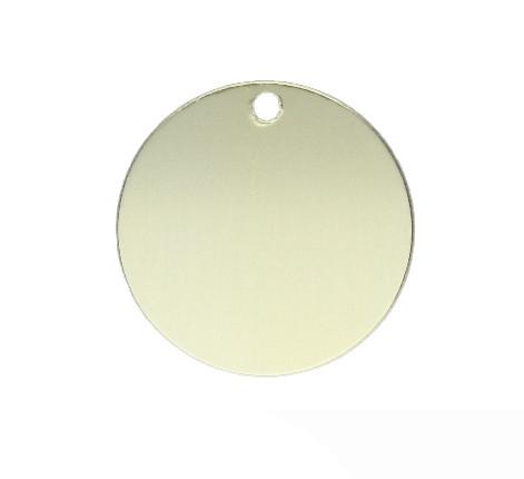 Anhänger, rund, Ø 32mm, gold, eloxiertes Aluminium