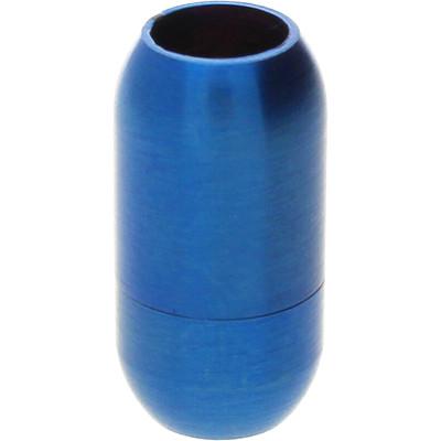 Magnetverschluss, 6mm, 19x10mm, Edelstahl, matt, blau