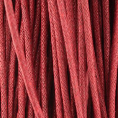 Gewachstes Schmuckband aus Baumwolle, 100cm, 2mm breit, bordeaux